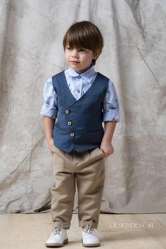 Ρούχα βάπτισης Designer s Cat INDIGO · Λεπτομέρειες προϊόντος · Ρούχα  βάπτισης αγόρι Cat in the hat. Βαπτιστικά ρούχα σετ Regio a57f4375576
