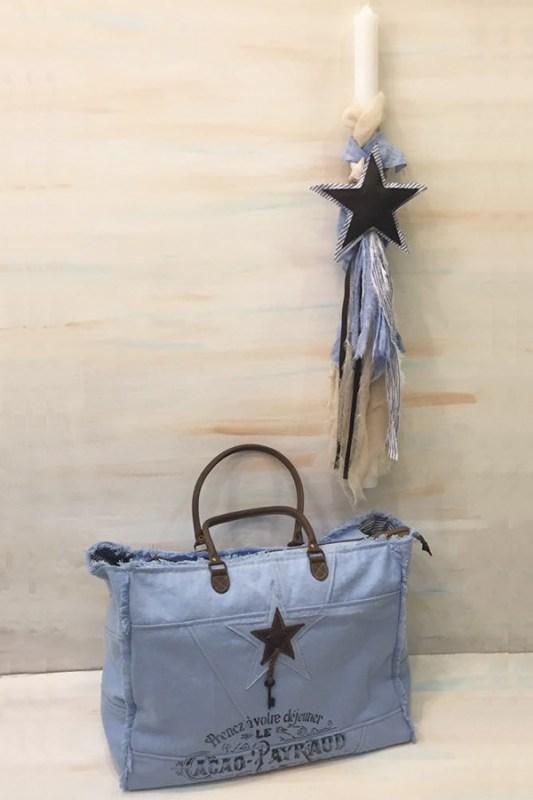 2d03c5fc09 Λαμπάδα   τσάντα βάπτισης με θέμα το αστέρι