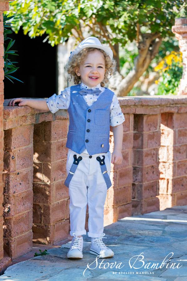 2130f59574a Βαπτιστικά ρούχα για αγόρι Stova Bambini Β11