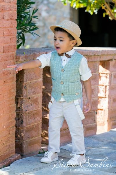 Βαπτιστικά ρούχα αγόρι Stova Bambini B8